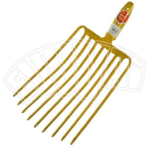forca in acciaio da ghiaia 9 denti forcone per giardino giardinaggio agricoltura
