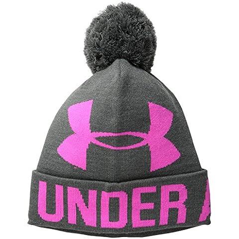 Under Armour UA Graphic Sportswear cappello Pom Pom Beanie, Donna, Sportswear Hut UA Graphic Pom Pom Beanie, Cbh/Rbp, Taglia unica