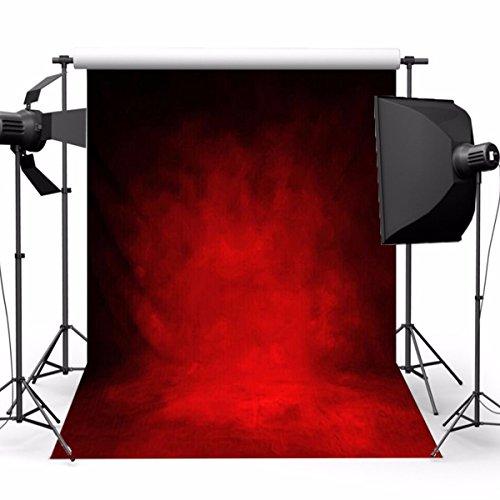 Werse 5x7ft Retro Dunkelrot Thema Fotografie Vinyl Hintergrund Studio Hintergrund 2,1 mt x 1,5 mt