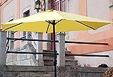 Sonnenschirm gelb mit Kurbel