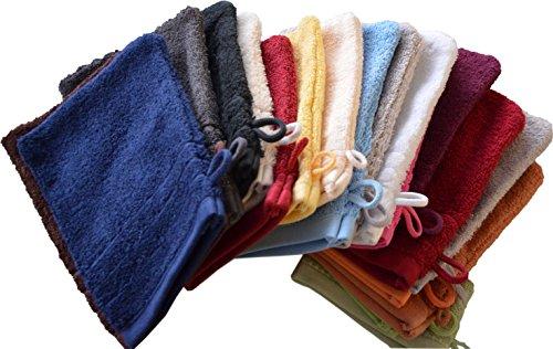 Naturawalk, einzel- oder 10er Set Waschlappen/Waschhandschuhe/Babywaschlappen 16x21 cm aus 100% Farbe SORTIERT, Größe 10er Set - 16x21 cm
