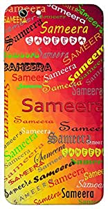 Sameera (Early morning fragrance) Name & Sign Printed All over customize & Personalized!! Protective back cover for your Smart Phone : Moto E-2 ( 2nd Gen )