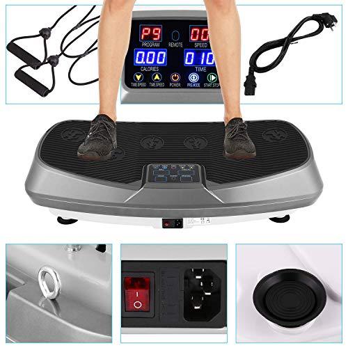 Profi Shape Vibrationsplatte 3D Wipp Vibrations Technologie + Bluetooth A2DP Musik Riesige Fläche mi Bunao (Grau)
