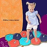 QXMEI Dance Decke Kinder Tanz Decke Musik Tanz Decke Licht Elektronische Remix Audio Kleinkind Spiel Decke Musical Brick Tanzen Pad Produkt-Größe: 54.6Zoll * 26Zoll