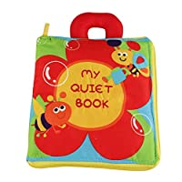 G-Tree Baby Quiet Books - Ultra Soft Baby Book, Touch and Feel Cloth Book, 3D Fabric Book Activity Toy for Babies Toddlers, Learning to Sensory Book, Busy Book with Portable Zipper