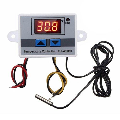 SODIAL 220v Sonde De Commutateur De Commande De Thermostat Du Régulateur De Température 10a Digital Led