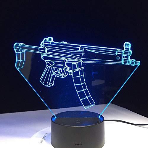WangZJ Optische Nachttisch Nachtlichter / 7 Farben Auto Ändern/nachtlicht/baby Schlafzimmer Dekoration/Gewehr Schlacht -
