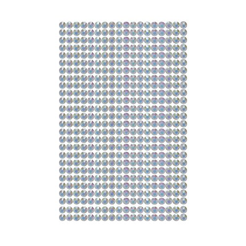 468 Strasssteine selbstklebend Glitzersteine zum Aufkleben rund Glitzer Aufkleber 5mm groß Kristalle Dekosteine Bastelsteine in weiß