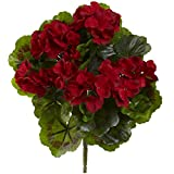 Best Nearly Natural Indoor Plants - Nearly Natural Geranium Bush, Set of 4 (Indoor/Outdoor) Review