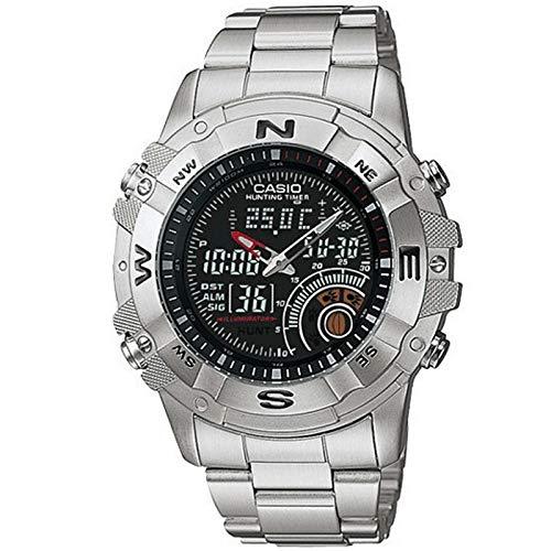 d489900015c9 ... CASIO 19702 AMW-705D-1AV - Reloj Caballero cuarzo brazalete metálico  dial negro ...