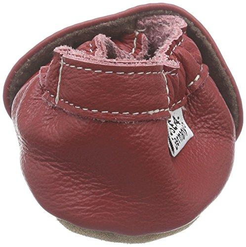 HOBEA-Germany Krabbelschuhe uni einfarbig Rot (Rot)