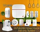 vcare Dual Netzwerk Smart Home Security System–iOS und Android Apps, max 100Benutzer, IP-Kamera, Sensor Tür/Fenster, PIR - 2