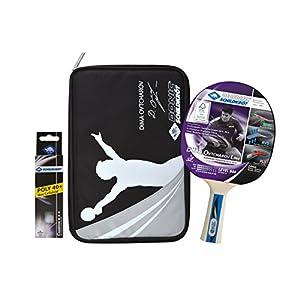 Donic-Schildkröt Tischtennis Premium-Geschenkset Ovtcharov 800, 1 Schläger, 3 Bälle 3* ITTF, Wertige Schlägerhülle, Hochwertiges Komplettset, 788482