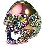 Ueice Herren Personalisiert Mode Schädel Kopf Rostfreier Stahl Ringe,Farbe,Größe 59 (18.8)