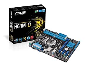 Asus H61M-D LGA1155 Micro ATX Motherboard (Parallel Port + Com Port Ready) for 2nd/3rd Generation Processors