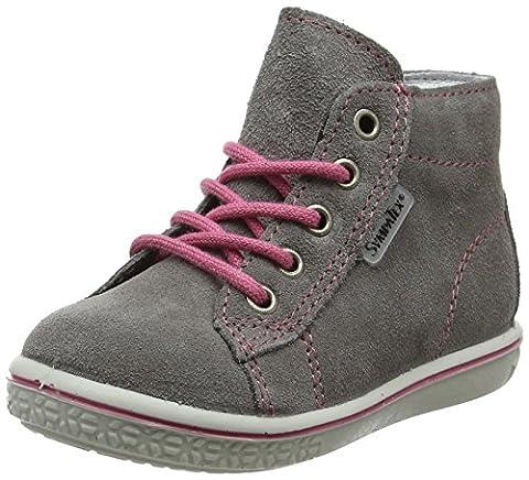 Ricosta Mädchen Zayni Hohe Sneaker, Grau (Graphit), 24 EU