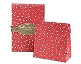 Adventskalender zum Befüllen 'Rot mit weißen Sternen' - 24 Taschen und bunte Zahlensticker