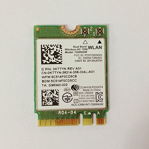 Dual Band Wireless-AC 7260 NGFF M2 Use For Intel AC 7260NGW 802 11ac 2x2  Wi-Fi + Bluetooth 4 0