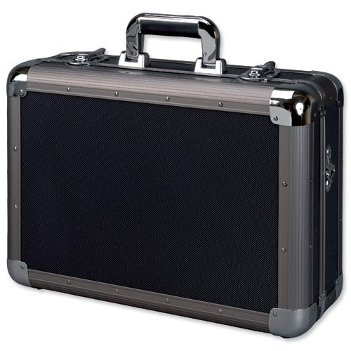 Preisvergleich Produktbild Alumaxx Multifunktionskoffer EXPLORER, Piloten Koffer aus Aluminium, Aktenkoffer in schwarz, Fotokoffer Pilotenkoffer