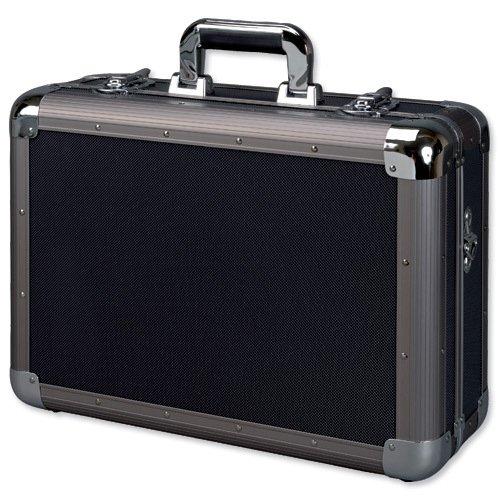 Alumaxx Multifunktionskoffer Explorer, Piloten Koffer aus Aluminium, Aktenkoffer in schwarz, Fotokoffer Pilotenkoffer