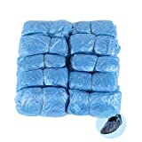 Shoe Covers Blue,100 Standard Disposable Shoe Covers / Overshoes,Strong Floor and Carpet,Shoe Protectors,Medium to Heavy Use