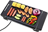 Excelvan Portable Electric Grill Indoor Barbecue with Large Easy Cleanup Cooking Surface and Thermostat Drip Tray,1400W