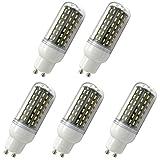 Aoxdi 5x LED GU10 Energiespar Mais Leuchtmittel Birnen 9W, Warmweiß,LED 9W Mais Licht Lampen 96 SMD 4014 LED GU10 Energiespar Lampe, AC220-240V