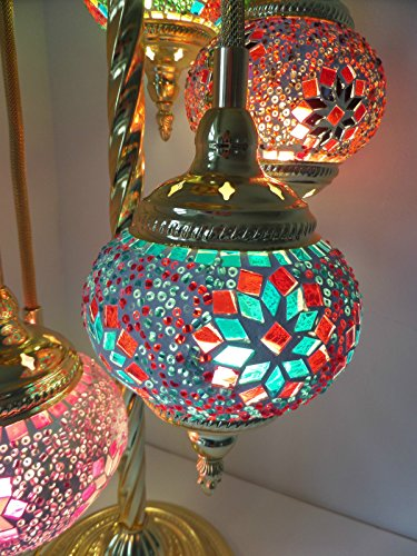 Buy Stunning Mosaic Glass & Gold Metal Floor Light Hand Made Turkish Lamp Moroccan Light Special