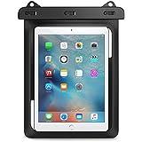 MoKo Funda Impermeable - Universal Waterproof Para Actividades al Aire Libre, Se Ajusta para iPad Pro 9.7, iPad 2 / 3 / 4, Tab A 9.7 / Tab E 9.6 y Otras Tabletas de 10 Pulgadas, Negro