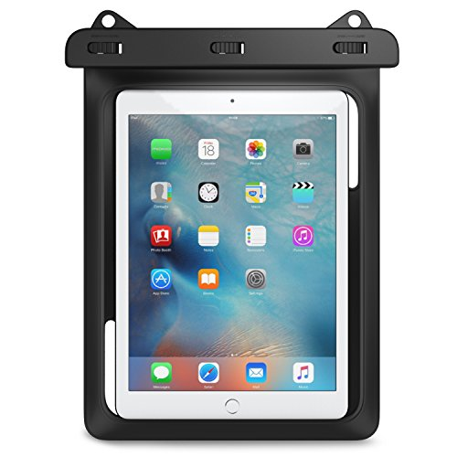 �lle, Staubdicht Tablet Tasche für iPad 9,7 2017/2018 iPad Air 2 iPad 4/3/2 Huawei mate10 Samsung Galaxy Note 8 , bis zu 10 Zoll Smartphone,IPX8, Schwarz (Ipod Touch 6 Gehäuse Wasserdicht)