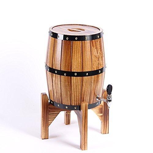 Eiche Holzfässer mit Edelstahl Wine Barrel für Speicher Wein/Bier/Whiskey (3 L) UK braun -
