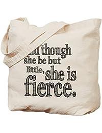 CafePress–Ella Es Fierce Shakespeare–Gamuza de bolsa de lona bolsa, bolsa de la compra