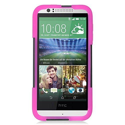 Eagle Zelle Hybrid-Schutzhülle mit Ständer für HTC Desire 510-Retail Verpackung, hot pink/schwarz
