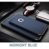 Audos 3-in-1 Dual Layer Thin Back Cover Case For Apple iPhone 6/6S (Midnight Blue with Gold)