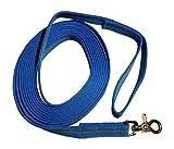 DOGS and MORE - Gummierte Schleppleine / Suchleine / Feldleine mit Reflektionsstreifen => 5 Meter (mit Handschlaufe) - Orange, Blau oder Lila