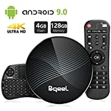 Bqeel Android 9.0 TV Box avec Mini Clavier Touchpad 【4GB+128GB】 Bluetooth 4.0 U1...
