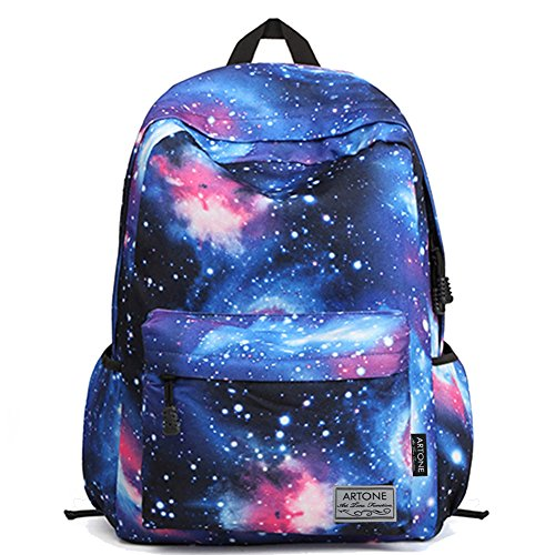 Artone Universe Blue Galaxy Daypack with Laptop Compartment Fit 15