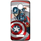 Mott2 Back Case For Motorola Moto Z2 Play | Motorola Moto Z2 PlayBack Cover | Motorola Moto Z2 Play Back Case - Printed Designer Hard Plastic Case - Captain America Theme
