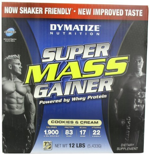 Dymatize Nutrition Super Mass Gainer, Cookies & Cream, 12-Pound by Dymatize Nutrition -
