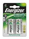 PilesC rechargeables EnergizerRecharge PowerPlus, pack de 2
