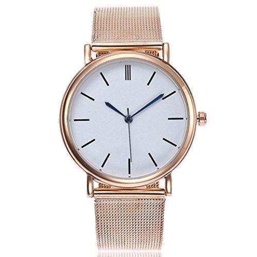 Uhren DELLIN Beiläufige Quarz-Edelstahl-Band-Marmor-Bügel-Uhr-analoge Armbanduhr (A)