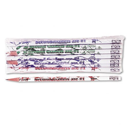 Moon Decorated Wood Pencil, Second Graders Are #1, HB #2, WE Brl, Dozen, DZ - MPD7862B by Moon