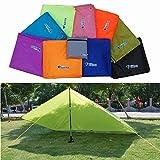 SAFETYON Outdoor Camping Zelt Sonnensegel Sonnenschutz Shelter Camping Wandern Zeltplane Garten UV-Schutz Wasserabweisend 10 Farbe Light Blue