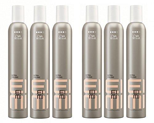 Wella EIMI Extra Volume-Mousse 6 x 500 ml Styling Schaumfestiger für starken Halt Professionals