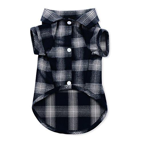 (YuNo Hunde-Shirt, kariertes Hemd für Katzen und kleine Hunde, mit Polokragen, hochwertig, niedlich, schick, ideal für Halloween- und Weihnachtsoutfits)
