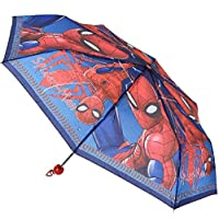 Marvel Spiderman Folding Umbrella with Protective Bag