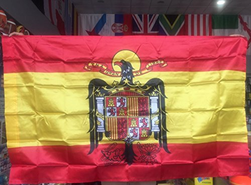 Durabol Flag of Spain (1945-1977)Franco 5ft x 3ft (150 x 90 cm) - Double Stitched