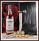 Geschenk The Ardmore Legacy Single Malt Whisky + Flaschenportionierer + 10 Edel Schokoladen Confiserie DreiMeister & DaJa + 4 Whisky Fudge kostenloser Versand