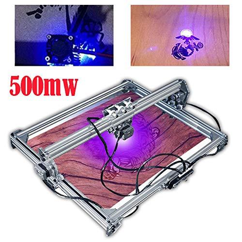 YIYIBY 550mW Laserdrucker Graviermaschine CNC Fräsmaschine Graviermaschine DIY Schnitzmaschine DC 12V mit Schutzbrille (Gravierfläche 65x50cm)