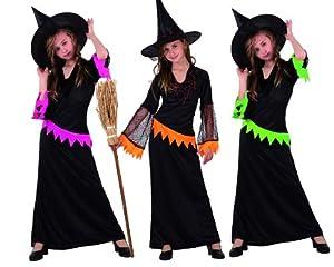 Atosa 5446 Disfraz bruja 3color surtido (no se puede escoger) 7-9 años, talla niña